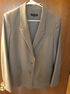 Ann Taylor Womans Jacket Size 6 Gray Tan Button Closure