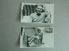 LOT 2 CPA portrait de vacances TRANSATE de Grand luxe vintage 1950