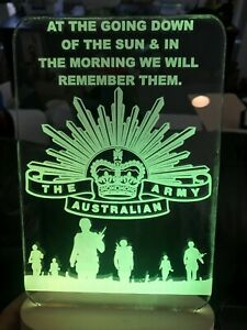 Customized Anzac ARMY LED sign light 240mm x 140mm