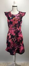 ABS Collection Flutter Sleeve Sheath Dress Size 12 (H593)