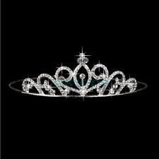 Luxury Crystal Tiara Crown Wedding Pageant Veil Headband Hair Accessory