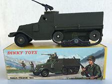 DINKY TOYS  822 -  HALF-TRACK M3 AVEC MITRAILLEUSE + BOÎTE - EXCELLENT ÉTAT