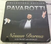 Nessun Dorma Luciano Pavarotti Collectors Edition 3 CD Tin Set With Booklet NEW