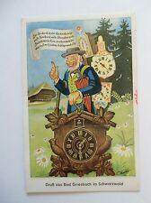 Ansichtskarte Griesbach Schwarzwald Humor 1960 Leporello Schwarzwalduhr Uhr