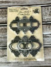 Tim Holtz Ornate Plate HERITAGE 3D Embellishments Keyholes Ephemera Dolls New