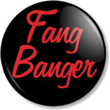 """Fang Banger 25mm 1"""" Pin Button Badge True Blood TV Show Vampires Humour Text"""