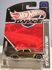 ' 57 PLYMOUTH FURY ~ HOT WHEELS ~ 2011 GARAGE SERIES ~ REAL RIDERS