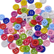 500PCS 4 Holes Color Round Resin Buttons Fit Sewing and Scrapbooking 9mm