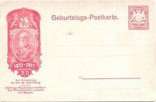 Bayern, Privatganzsache 10 Pfennig, 90. Geburtstag Prinzregent Luitpold