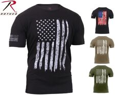 Mens US Flag Athletic T-Shirt Muscle Build Tactical Tee American Patriotic USA