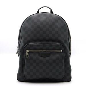 LOUIS VUITTON Josh rucksack backpack bag N41473 Damier Graphite Black Used