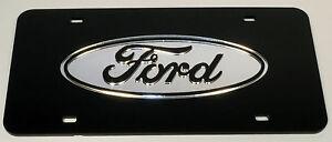 Ford Chrome Mirror License Plate Auto Tag F-150 Truck Diesel