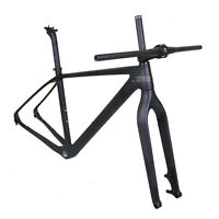 "17.5"" 29er Carbon Mountain Bike Frame Fork Handlebar Stem 142mm Thru Axle BSA BB"