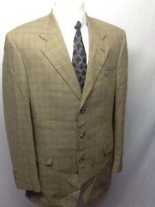 Paul Dione Plaid Checked Brown Wool Blazer Jacket               Q8