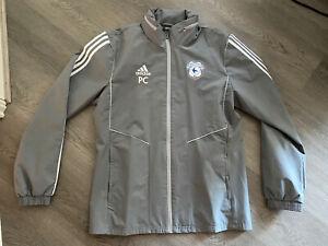 Cardiff City Adidas Staff Issue PC Mens Grey Long Sleeve Training Jacket Size M