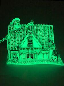 Neil Eyre Designs Halloween Haunted House tea light lantern glow in dark Frog V1