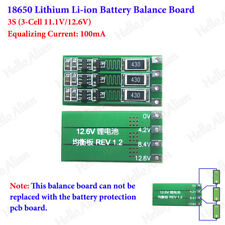 18650 Lithium Li-ion Battery Charger 3S 3 Cell 11.1V 12.6V Module Balance Board