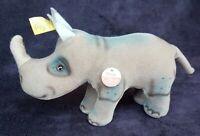 VINTAGE Steiff Nosy Rhinoceros, ALL ID, Button, CT & Stocktag #1110/12 1975-1978
