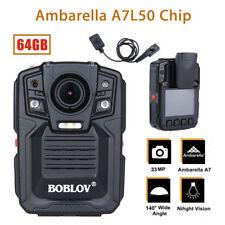1290P Police DVR 33MP Ambarella A7L50 Security 64GB Body Worn Camera+Lens Bro