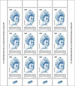 Togo Definitives Stamps 2020 MNH Bella Bellow Singers Music Reissue 750F 12v M/S