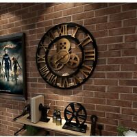Industrial Wall Clock Modern Design Living Room Analog Decoration Wall Art Decor