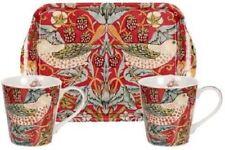 Portmeition/Pimpernel Morris & Co Strawberry Thief mug & tray set, crimson red