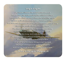 High Flight by John Gillespie Magee Jr - Mouse Mat