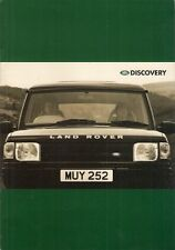 Land Rover Discovery 1995-96 UK Market Sales Brochure Base S ES XS 2.0 V8 TDi