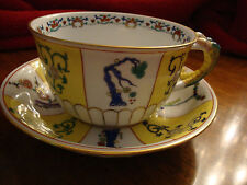 Herend Yellow Dynasty SJ Large Tea Cups 10oz cap. with Twin Lizard Handles