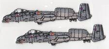 KANDAHAR WHACKER USAF A-10 WAR HOG WARHOG GROUND ATTACK TANK KILLER INSIGNIA X 2