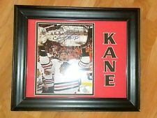 PATRICK KANE CHICAGO BLACKHAWKS SIGNED 8X10 FRAMED 11X14 MATTED PICTURE
