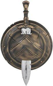 Roman Warrior Gladiator Spartan Shield + Sword Fancy Dress Party Costume Accesso
