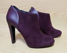 Nine West Burgundy Suede Leather Booties Womens Shoes 7.5 M