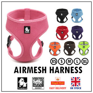 Truelove® Dog Puppy Airmesh Harness Padded Miniature Vest XS S M L XL 8 Colours