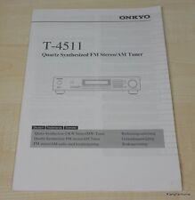 Onkyo T-4511 Bedienungsanleitung mehrsprachig (auch Deutsch)