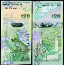 BERMUDA 20 DOLLARS 2009 HYBRID ONION PREFIX 3 DIGIT 897 P 60 UNC