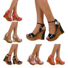 Calzado de mujer plataformas de piel sintética