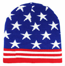 New Us Flag Usa Beanie American Patriotic 4th Of July Ski Snowboarding Hat