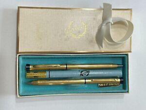 "vintage ""Garland"" 1/20-12 KT. gold pen & pencil set in original box w/ink refill"