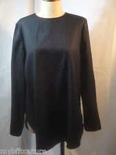 SHAMASK COLLECTION 100% wool Lagen Look Blouse Size 10