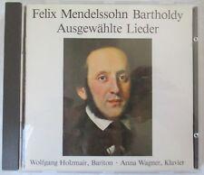 FELIX MENDELSSOHN BARTHOLDY - AUSGEWAHLTE LIEDER CD IMPORT