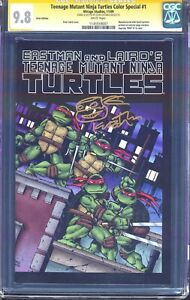 MISPRINT/ERROR VARIANT TMNT 1 CGC SS 9.8 1ST COLOR PRINTING TURTLES 2009 SPECIAL