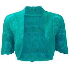 Ladies Bolero Shrug Women's Crochet Knitted Cardigan Plus Size Shrug Top 8-30