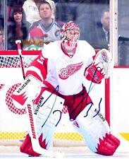 Signed 8x10 Jimmy Howard Detroit Red Wings Photo - Coa