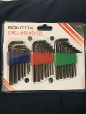 Sontax 21 pc L-Hex Key Wrench Set Include SAE Torx & Metric ~~ New 244-6945