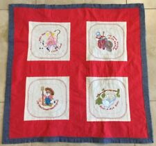 Patchwork & Embroidery Children's Quilt, Mary Had A Little Lamb, Rock A Bye Baby
