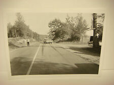 Vintage Car Wreck Photo NH Accident Scene 1965 Skid Marks Rearended SPP051