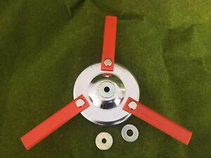 STHIL FS36 3 Swing Blade Cutter STEEL Heavy Duty + 3 Plastic Blades 12x1.75 RHF