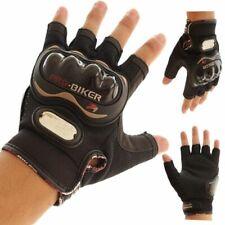 Pro-Biker Half Finger Motorcycle Gloves Motorbike Racing Protective Gear Black
