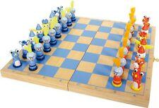 Schachspiel Ritter Holz  ca. 33 x 33 x 2 cm Figur: ca. 2 x 2 x 4 cm